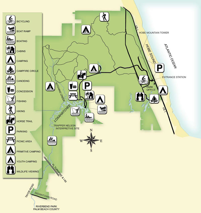 Jonathan Dickinson State Park Map Trail Maps – Club Scrub